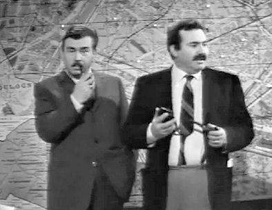 Mario Maranzana (a destra), con Gino Cervi.